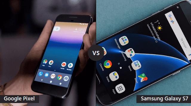 pixelvsgalaxy Google Pixel VS Samsung Galaxy S7: Получится ли у Google забрать корону производителя Андроид смартфонов?