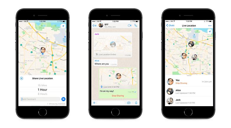 330 Обновление WhatsApp для Андроид: Поделиться местоположением в реальном времени.
