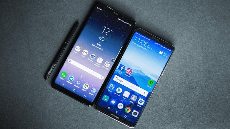 919 Huawei Mate 10 Pro VS Samsung Galaxy Note 8: сравнение