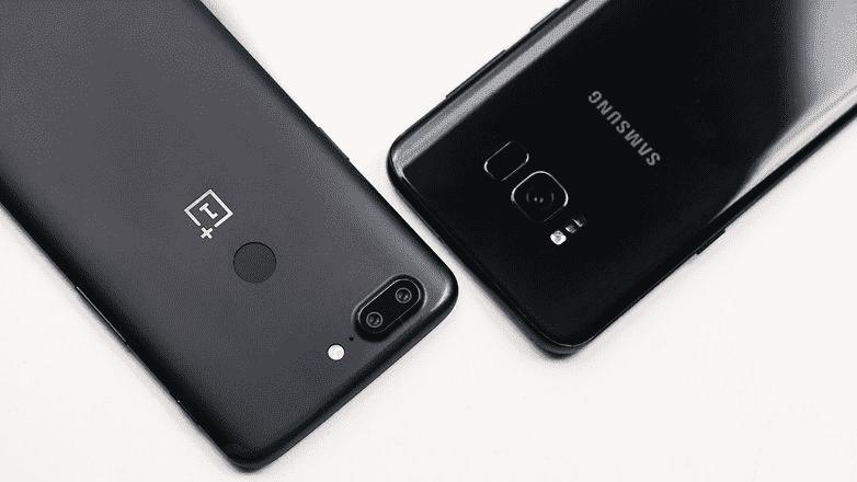 247 Samsung Galaxy S8 + VS OnePlus 5T: столкновение двух миров