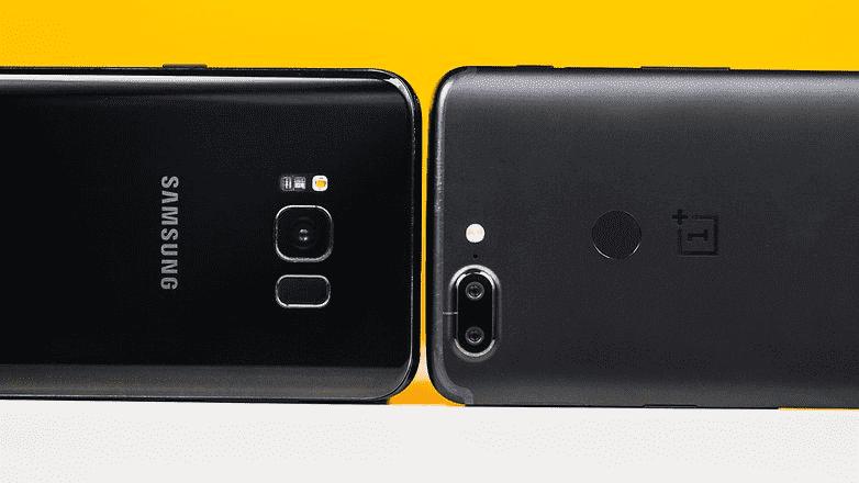 906 Samsung Galaxy S8 + VS OnePlus 5T: столкновение двух миров