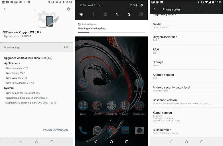 808 OnePlus 5T получает обновление Oreo, а так же Face Unlock