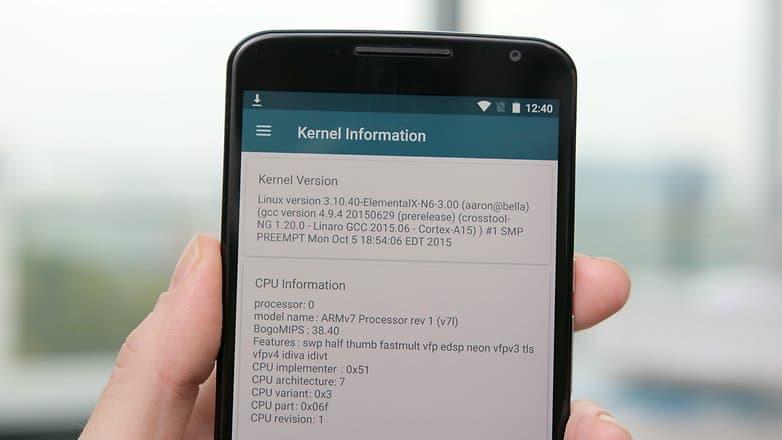 Nexus 6 kernel adiutor CPU information w782 Как разогнать Андроид и ускорить работу смартфона?