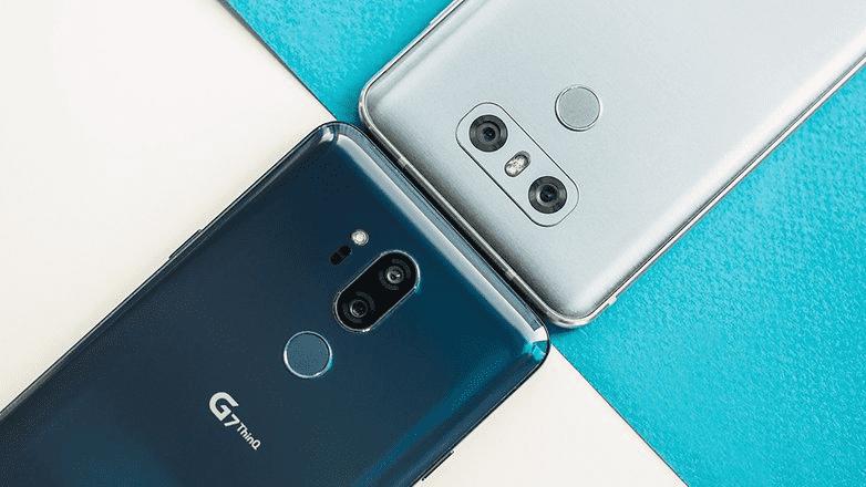 836 LG G6 против LG G7 ThinQ: мощный скачок к AI