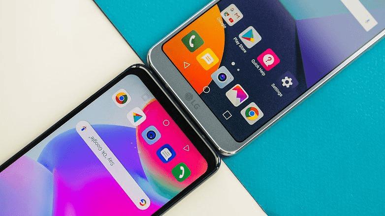 848 LG G6 против LG G7 ThinQ: мощный скачок к AI