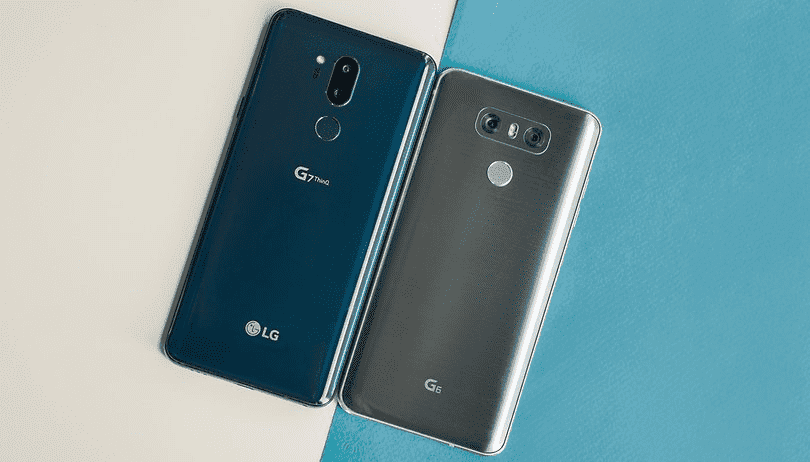 950 LG G6 против LG G7 ThinQ: мощный скачок к AI
