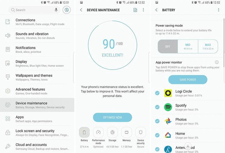 799 Как ускорить Samsung Galaxy S9 / S9 + и максимально оптимизировать работу?
