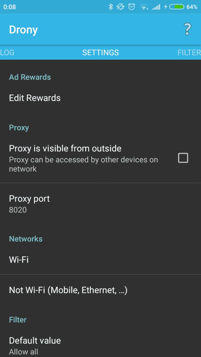 Screenshot 2018 10 25 00 08 19 743 org.sandroproxy.drony  640x1138 Как настроить прокси на Андроид?