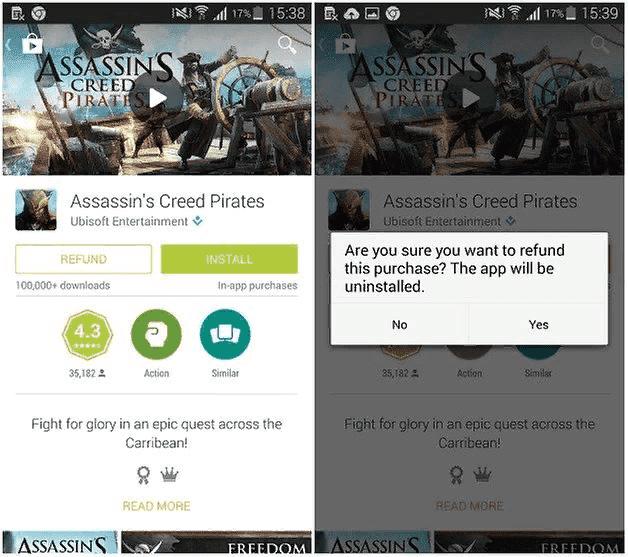 Как вернуть деньги за покупки в Google Play Store